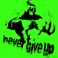 Logo Never give up run