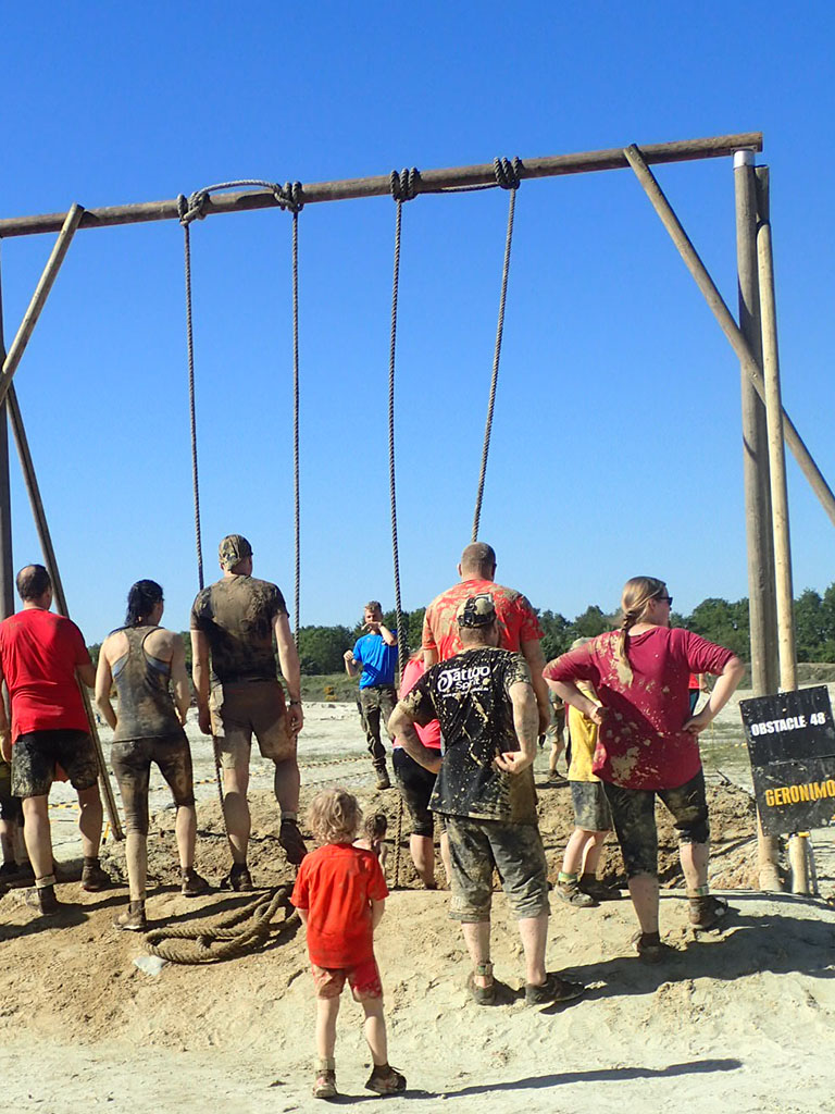 Mud Masters Family Run, Hindernislauf Deutschland, Hindernis Tarzan Swing
