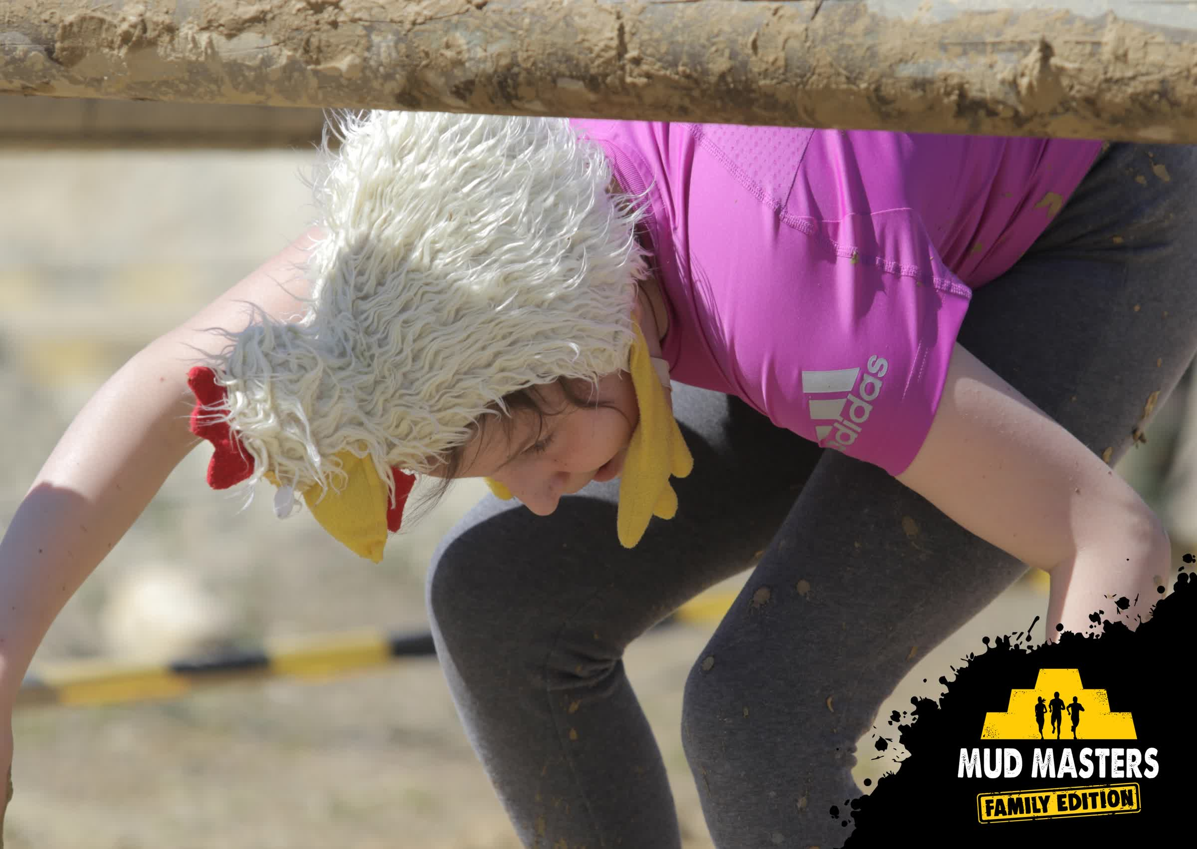 Mud Masters Obstacle Run Family Run, Hindernislauf Deutschland, Tough Chicken Family Tochter