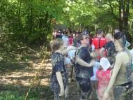 Mud Masters Family Run, Hindernislauf Deutschland, Warteschlange Halfpipe