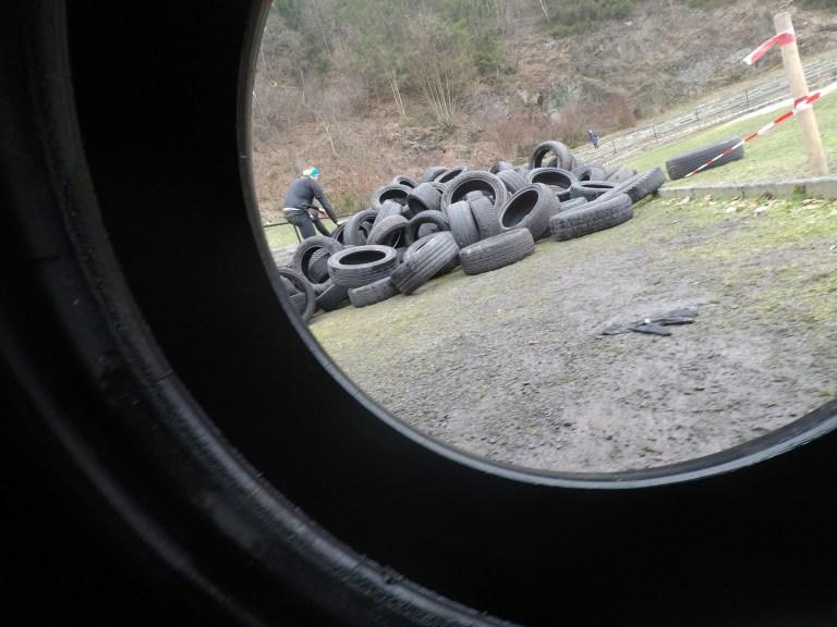 Braveheart Battle, Hindernislauf Thüringen, Hindernis Wheels