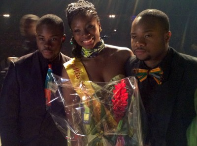 Les Coordonnateurs Mohamed Moh Coulibaly & Doro Saiz en compagnie de Miss Afrique Mtl 2013 Aminata Awuri - Photo Marc Laurin