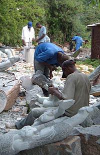 Shona-working the stone