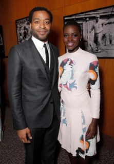 Chiwetel Ejiofor and Lupita NyongO