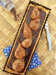 tarte poire chocolat aux épices roellinger