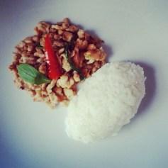 viande hachée basilic thaï