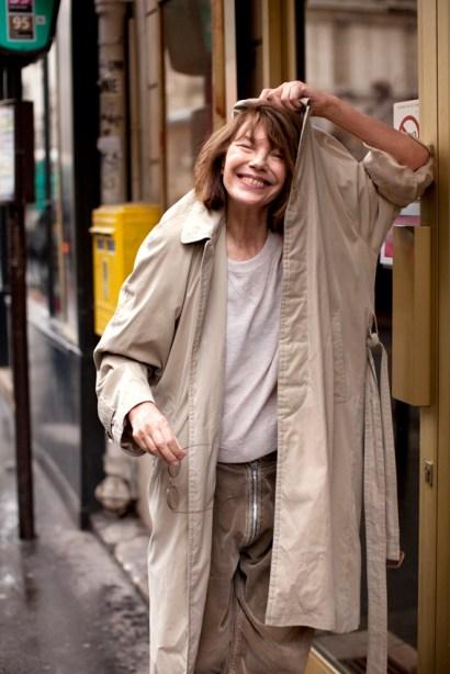 Jane Birkin, Paris Fashion Week March 2012 after the HERMES Show