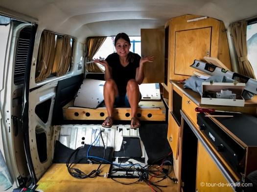 Selbstausbau zum VW Bus Weltreisemobil.