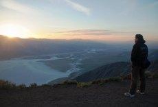 Coucher de soleil sur la Death Valley