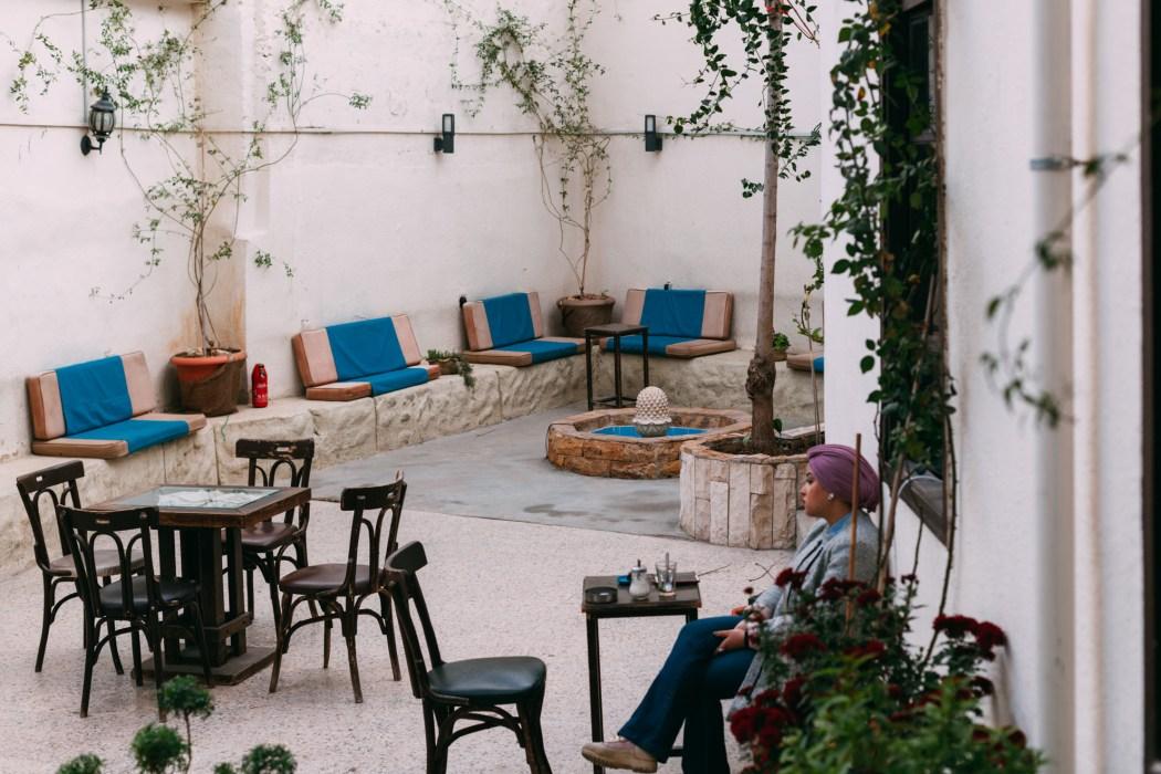 Cour extérieure de l'espace - Amman © Mehdi Drissi