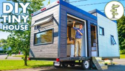 Beautiful DIY Tiny House Build with Massive Custom Patio Door – Full Tour