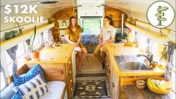 Most Amazing School Bus Tiny House Conversion on a Budget – Full Tour