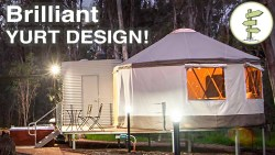Brilliant Yurt Design! – Mixing Tradition with Super Modern Construction