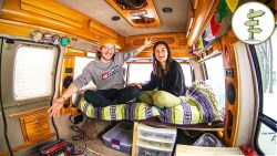 Couple Starts Van Life After Quitting Their Jobs & Downsizing to a Minimalist Camper Van