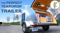 Hand-Built Teardrop Camper Trailer with Solar Power & Running Water – Perfect Mini RV