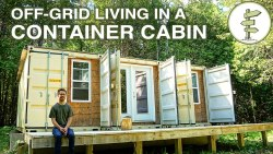 Living Off-Grid in a Self-Built 20ft Shipping Container Mobile Home