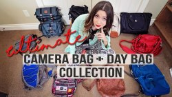 my CAMERA BAG + DAY BAG COLLECTION