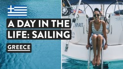 LIFE ON A YACHT VLOG – Our Routine Sailing Greece 🇬🇷 | Med Experience Days 5+