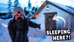 Sleeping in an ICE CABIN (challenge)