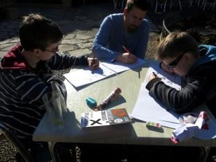 drawing in Estepona