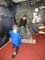 Lucas being Knighted