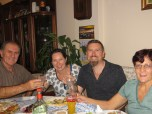 Wonderful meal with our hosts