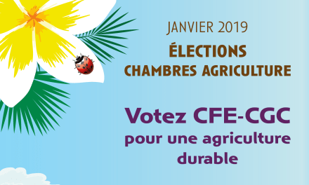 Elections aux chambres d'agriculture 2019