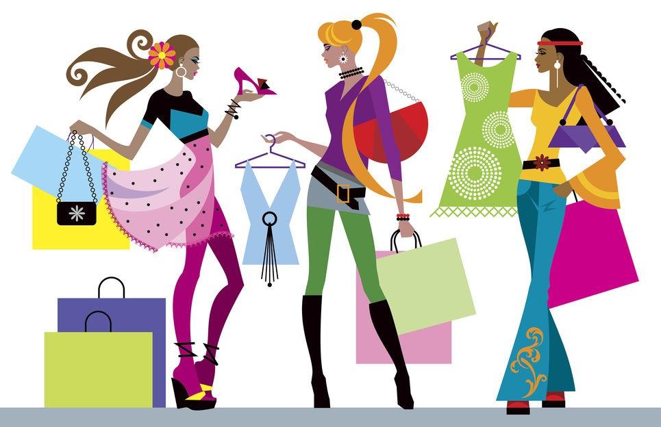 Открытка шопинга