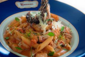 Seafood Pasta with Tomato Cream Sauce