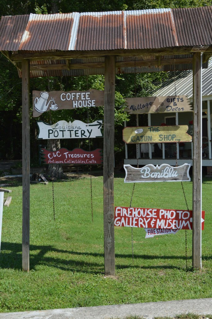 Cajun Village Sign