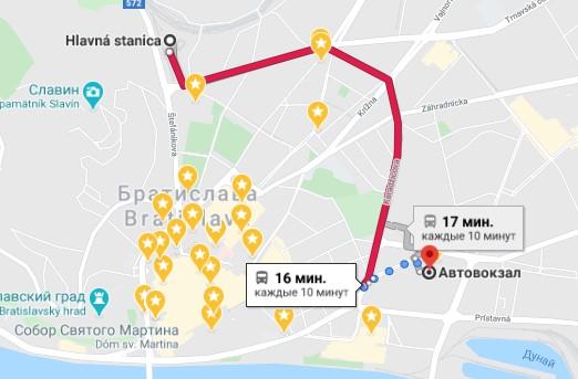 Аэропорт Братиславы - как добраться до автовокзала