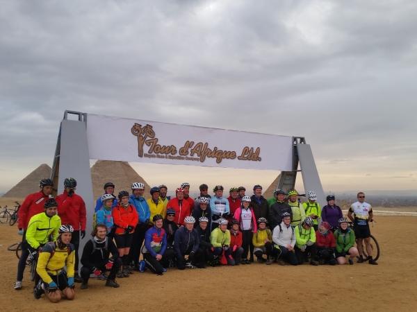 The 2015 Tour d'Afrique cyclists