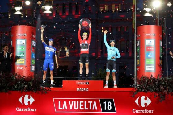 podium Vuelta 2018