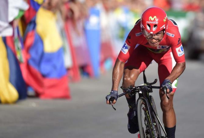 tijdrit van Nairo Quintana in de rode trui