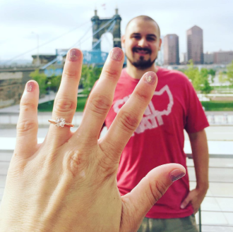 Had to get an engagement photo with Brandon at Smale Park