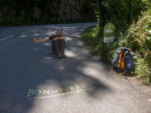 Colin à Vénosc en stop!