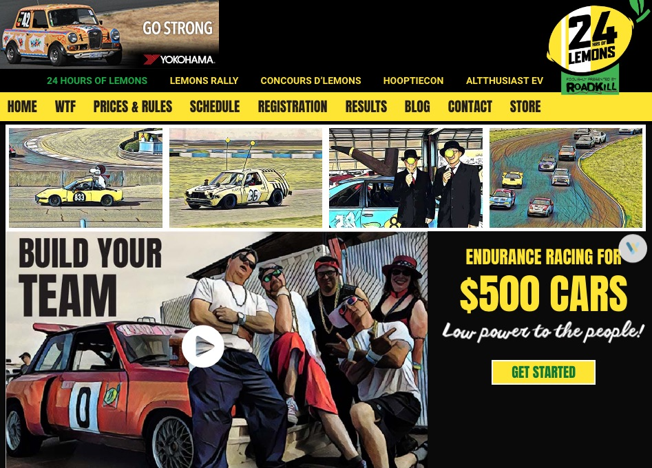 24 Hours of Lemons Home Page