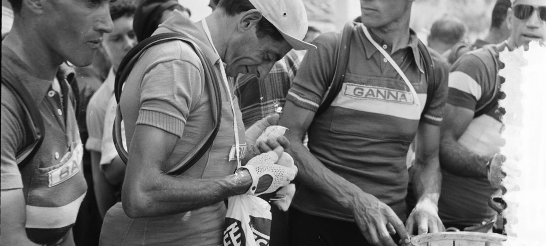Coppi preparing for a day at Le Tour