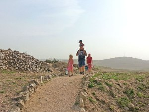 Hiking at Tel Shiloh Israel