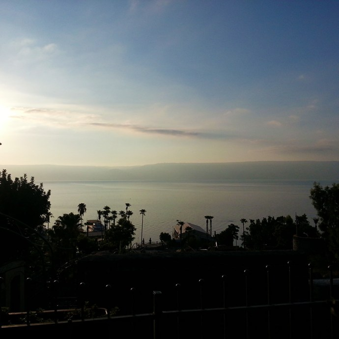 Sunrise over the Kinneret