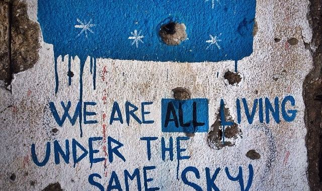 We-Are-All-Living-Under-the-Same-Sky-Street-Art-in-Mostar-min