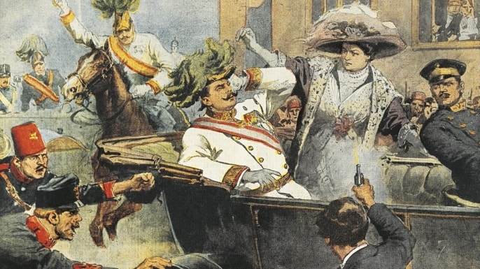 On June 28, 1914, a teenage Serbian nationalist gunned down Archduke Franz Ferdinand and his wife, Sophie, as their motorcade maneuvered through the streets of Sarajevo. Next in line for the Austro-Hungarian throne, Ferdinand had not been particularly well liked in aristocratic circles. Nonetheless, his death quickly set off a chain reaction of events culminating in the outbreak of World War I.