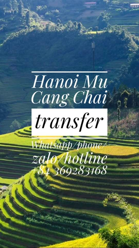 Hanoimucangchai Hanoi to Mu Cang Chai private car transfer