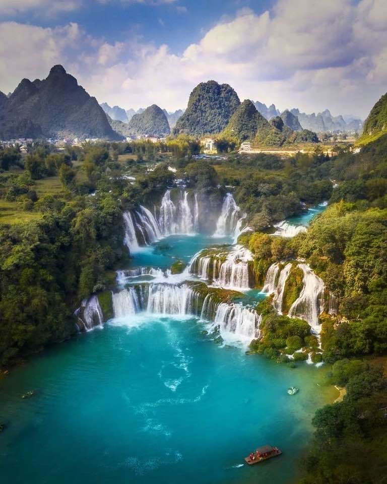 Ban gioc detian waterfalls 10 Best Travel Places to Visit in Vietnam