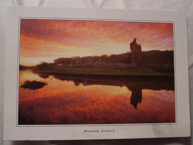 Ogmore Castle Postcard