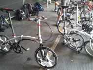 The spokes on this bike have been replaced with, very expensive, shock absorbers, which are curled metal bands.