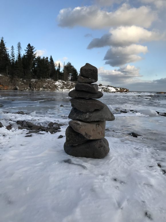 Making this cairn felt very right, since this was the first time in a long time that I thoroughly enjoyed a proper Minnesota winter.