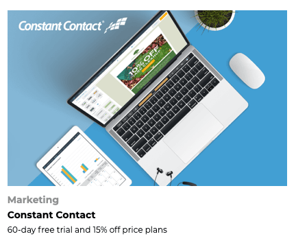 FoundersCard Constant Contact Discount