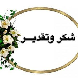 شكر وتقدير / الى الاستاذ المساعد الدكتور نادية صالح مهدي الوائلي معاون العميد للشؤون العلمية