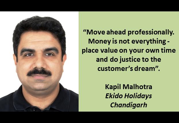 Kapil Malhotra, Director - Ekido Holidays Chandigarh